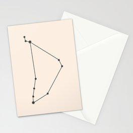 Capricorn Zodiac Constellation Charcoal Stationery Cards