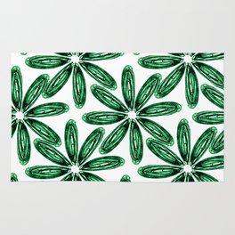 Ballpoint Flower Pattern in Green Rug