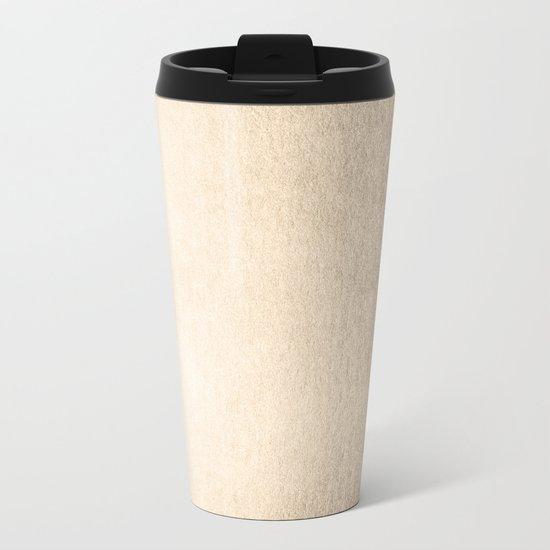 Simply White Gold Sands Metal Travel Mug