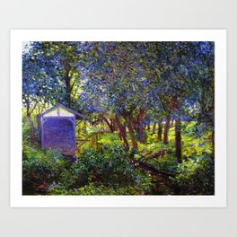 Giverny Blossoming Lilac Landscape, in Monet's Garden by Lillian Cabot Perry Art Print