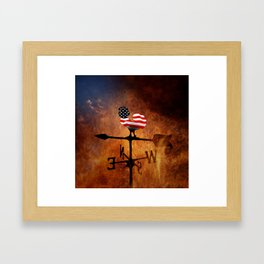 POTUS Trump and the Wind Of Times. Framed Art Print