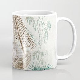 Chinoiserie Embroidery Coffee Mug