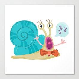 Cute Snail Canvas Print