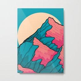 Turquoise peaks Metal Print