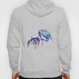 Blue Crab sea world seafood restaurtant kitchen wall art crab painting Hoody