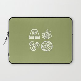 Bending All Four Elements – Earth Laptop Sleeve