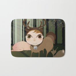Deery Fairy in the Forest Bath Mat