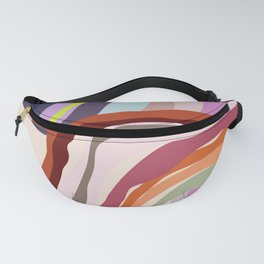Id, Ego and Superego abstract and colorful Fanny Pack