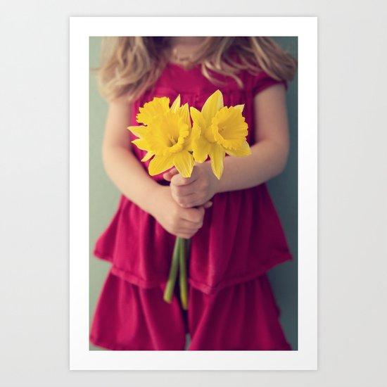 daffodil girl Art Print