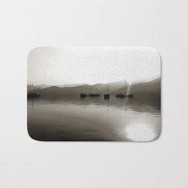 Gulets In Greyscale Bath Mat