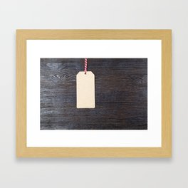 a paper tag Framed Art Print