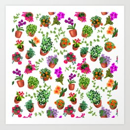 Miami Garden Art Print