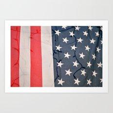 Flag Lights Art Print