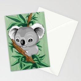 Koala Baby on the Eucalypt Branch Stationery Cards