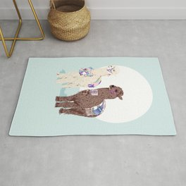 Well decorated alpaca Rug