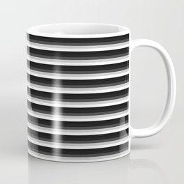 Stripes Black Gray & White Ombre Coffee Mug
