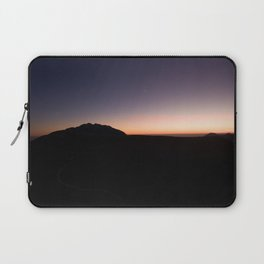 monte baldo garda lake italy drone shot aerial view sunset mountains dust path clouds star Laptop Sleeve