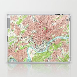 Vintage Map of Knoxville Tennessee (1966) Laptop & iPad Skin