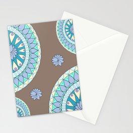 mandala fan pattern Stationery Cards