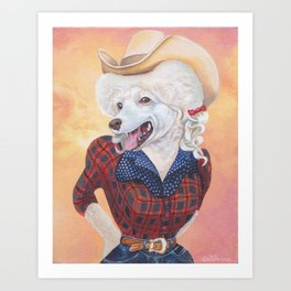 Doggy Parton Art Print