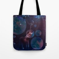 bubbles Tote Bags featuring Bubbles by ShadowPaw Pictures