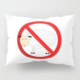 Sheep Not Allowed Sign Pillow Sham