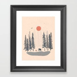 Feeling Small in the Morning... Framed Art Print