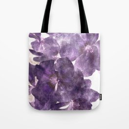 Purple Blossoming Tote Bag