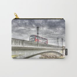Battersea Bridge London Snow Carry-All Pouch