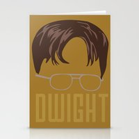 dwight Stationery Cards featuring Dwight and you by Ally Simmons