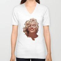 marilyn V-neck T-shirts featuring marilyn by gazonula