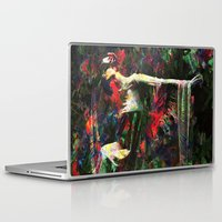 kandinsky Laptop & iPad Skins featuring Lady of the Garden by Mark Compton