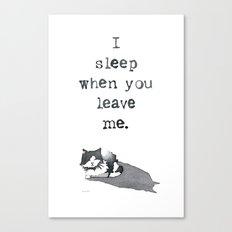 I Sleep When Canvas Print
