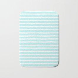 Stripes, Blue, Minimal, Scandinavian, Abstract, Pattern, Modern art Bath Mat