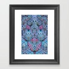 Crochet Me a Fractal Framed Art Print