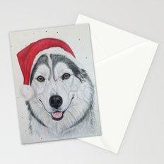 Festive Husky Stationery Cards