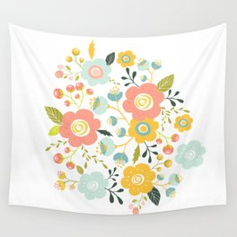 Airy GardenPillow Wall Tapestry