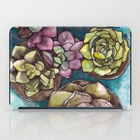 succulents iPad Cases featuring Succulents by Kari Gale