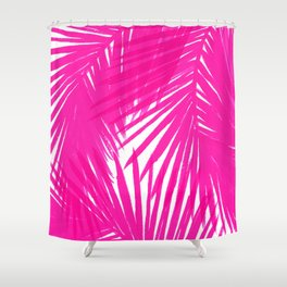 Palms Fuchsia Shower Curtain