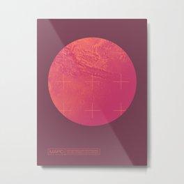 Mars Planet Space Program Retro 70s - Russian Metal Print