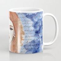 lana Mugs featuring Lana  by Calamus Ying Ying Chan