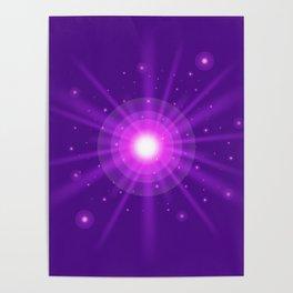 purple light effect Poster