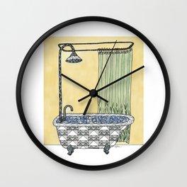 Claw Foot Bathtub Wall Clock