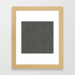 Grey Stone Bricks Wall Texture Framed Art Print
