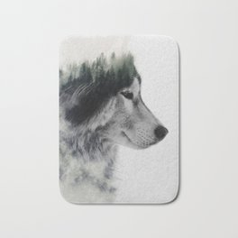 Wolf Stare Bath Mat