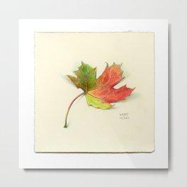 Fall Leaf - Drawing #17 Metal Print