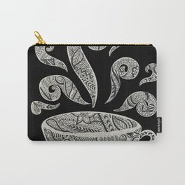 But first, Coffee - tea coffee lover zentangle Carry-All Pouch