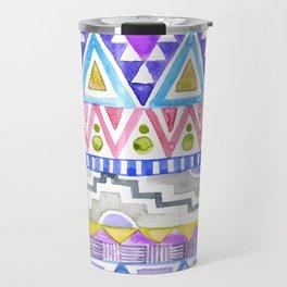 Watercolor Aztec Pattern violet Travel Mug