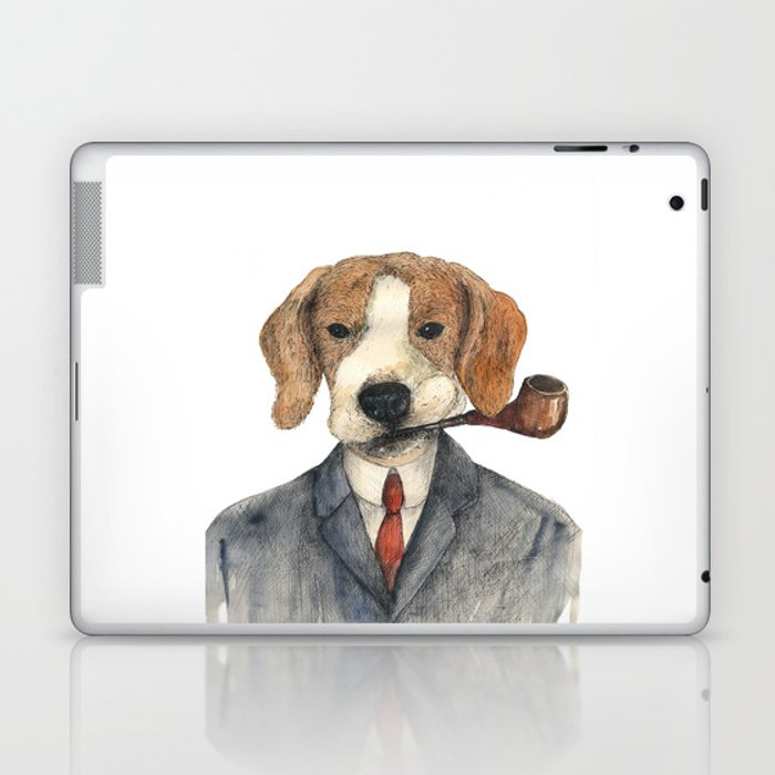Monsieur Beagle Laptop & iPad Skin