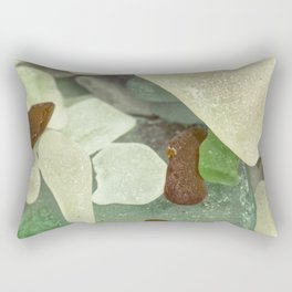 Sandy Beach Glass Rectangular Pillow